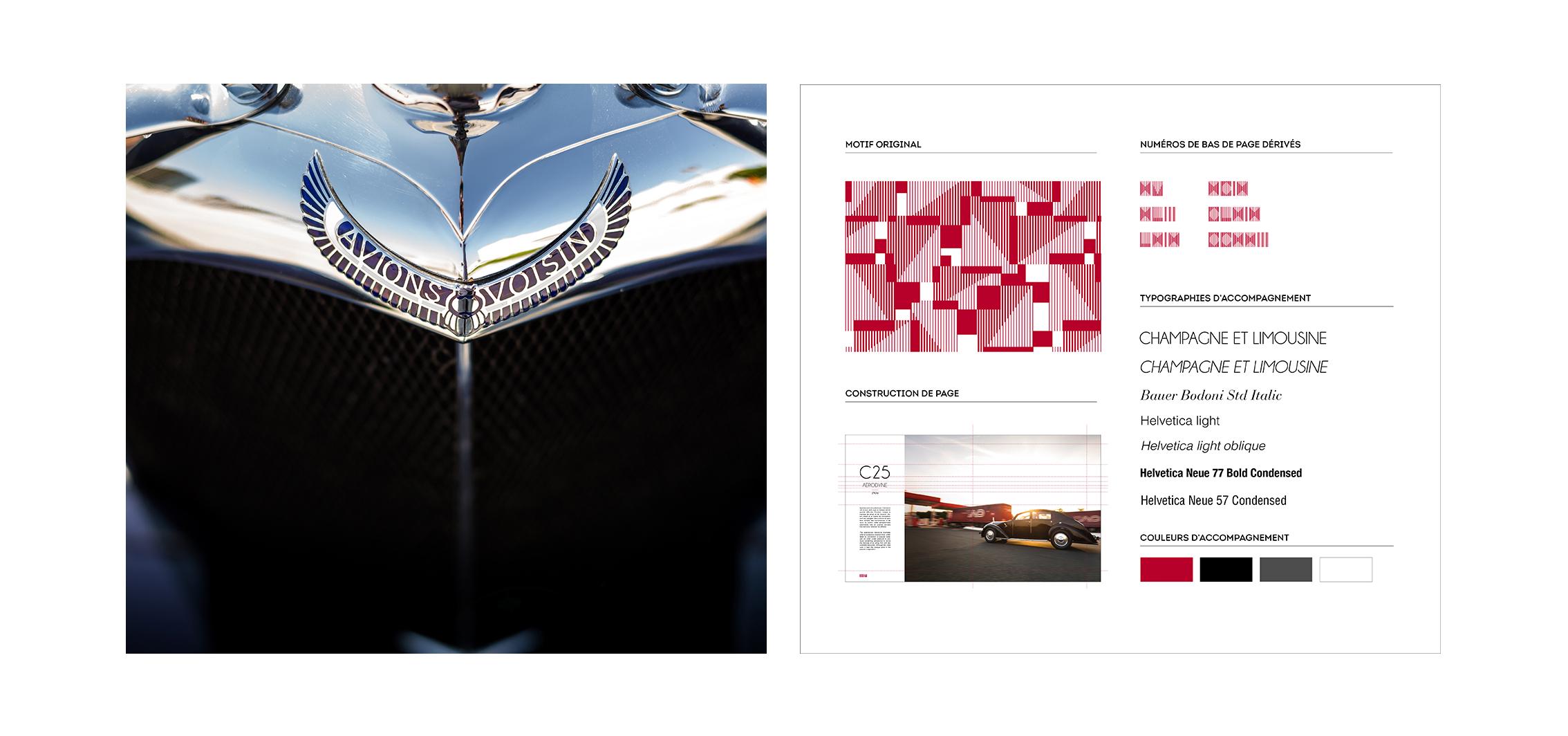 Voisin livre edition coffret luxe voiture mise en page